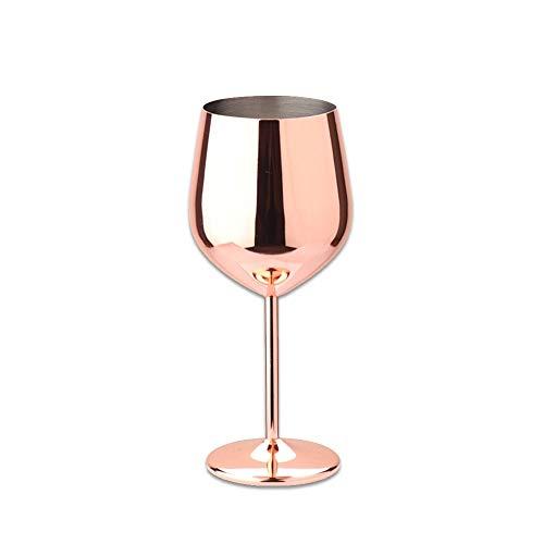 DOROCH 500 ml 304 Acero Inoxidable de Acero Inoxidable Copa de Vino Tinto Copa de Vino de Gran Capacidad para Tambor de Gran Capacidad de Gran Capacidad para Gotas