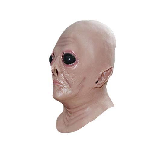 Gcroet Halloween-Maske Scary, Halloween-Maske Alien Kopfbedeckung Halloween Horror Alien-Maske Horror Spuk Kopf Masken Horror Cosplay Prop Cosplay Masquerade Karneval Kostüm