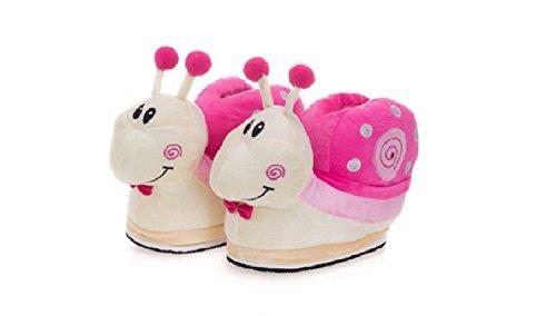 Hausschuhe, Warme Schuhe Winter Hefterzufuhren weiche Nette Karikatur Plüsch Slipper (Damen (EU:35-40), Pink Snail)