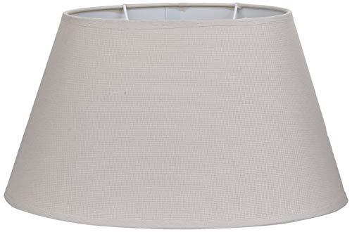 Better & Best Lampenschirm aus Leinen, oval, 35 cm, Farbe unten: 35 x 22 cm, Durchmesser oben: 23 x 13 cm, Höhe: 19 cm