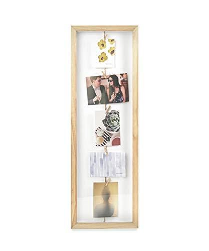 UMBRA Clothesline Flip. Cadre Pêle-mêle Clothesline flip, coloris bois naturel, pour environ 7 photos, dimension du cadre 72,4x24.1x3.8cm