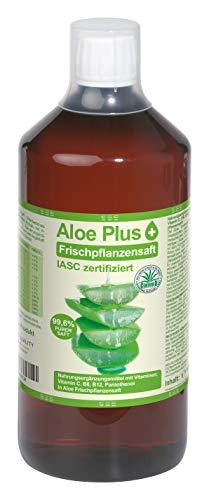 Aloe Vera, PURER SAFT 99.6% | ISAC zertifiziert, 1L mit Messbecher | mit Vitamin C, B5, B6, Biotin, B12 | Nahrungsergänzung, Premium Qualität | Aloe Plus Secret Essentials