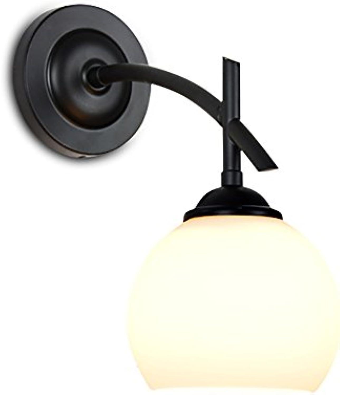 Wandleuchte Einzelscheinwerfer Schlafzimmer Hotel Wohnzimmer Halterung Eisen Eisen E14 Schwarz (Farbe   Weiß light)