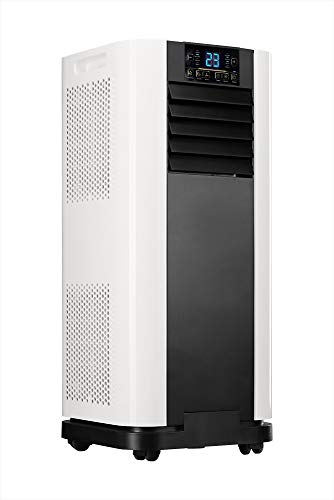 Home Deluxe - Klimaanlage Mobil SET Mokli XL - Mobiles Klimagerät mit 4in1 System: kühlen, heizen, entfeuchten, lüften - 9000 BTU/h (2.600 Watt) - Klima mit Montagematerial, Fernbedienung und Timer