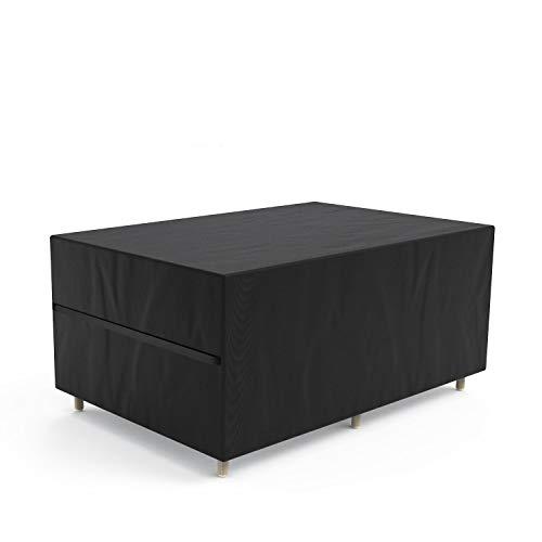Govvay Cubierta de Muebles de Jardín Funda Protectora para Muebles Impermeable Anti-UV 420D Oxford Protección Exterior Muebles de Jardín Sofá,Mesa,Silla Negro(242x162x100cm)