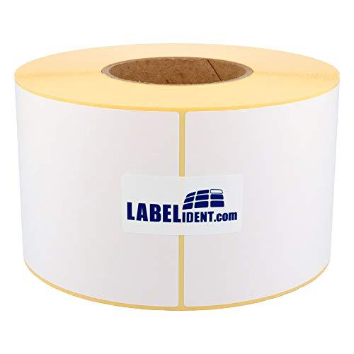 Labelident Thermotransfer-Etiketten auf Rolle weiß - 100 x 150 mm - 1000 Haftetiketten auf 1 Rolle(n), 3 Zoll Kern für Standard- und Industriedrucker, Rollenetiketten Papier, permanent, Trägerperfo.
