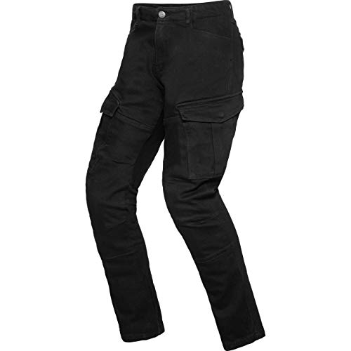 Spirit Motors Motorrad Jeans Motorradhose Motorradjeans Cargo Hose 1.0 schwarz 36/34, Herren, Chopper/Cruiser, Ganzjährig, Textil