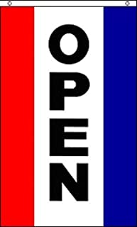 NEW 3x5 Vertical OPEN Sign Flag 3ft x 5ft Large Banner