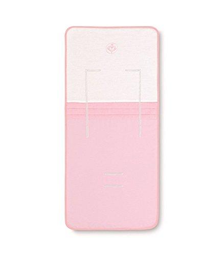 Bimbi Elite - Colchoneta recta, 38 x 83 cm, blanco y rosa