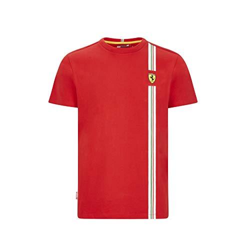 Ferrari Scuderia F1 - Camiseta para hombre, diseño de bandera italiana, color negro y rojo - rojo - XX-Large