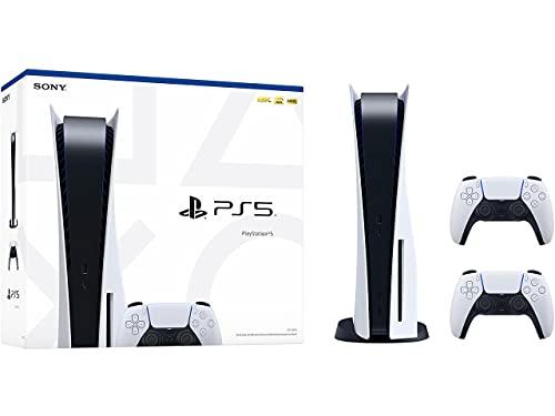 Consola PS5 PlayStation 5 Sony (lector de disco Bluray) 825GB SSD, HD, 4K/8K + Incluye 2 Mandos Dualsense