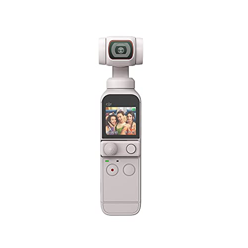 【国内正規品】 DJI Pocket 2 限定コンボ (サンセット ホワイト) ポケットサイズ VLOGカメラ 3軸ジンバル 3軸手ブレ補正搭載カメラ AI編集 映像品質 4K動画撮影 64MP写真 ActiveTrack 3.0 YouTube ビデオ、iOS/Androidも対応