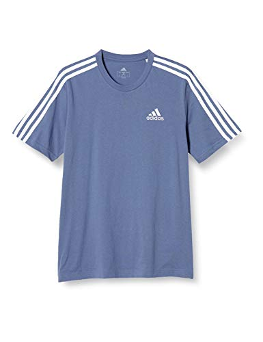 [アディダス] 半袖 Tシャツ エッセンシャルズ 3ストライプス 半袖Tシャツ 26800 メンズ クルーブルー(GK9135) 日本サイズS相当