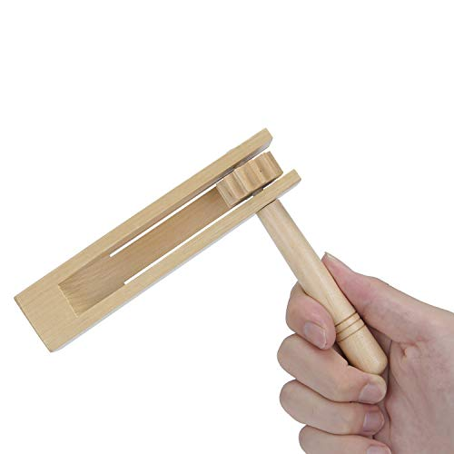 Wooden Spinning Rattle Ratchet Noise maker Traditional Matraca Toy for Games, Parties and Sports