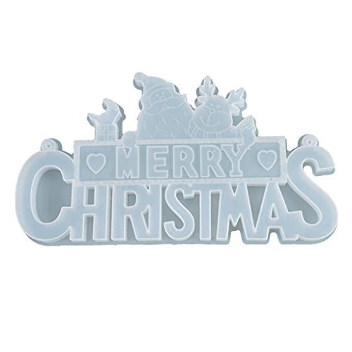 DIY Crystal Epoxy Mold Navidad Santa Carta Listing Decoración para DIY Joyería Artesanía Fabricación