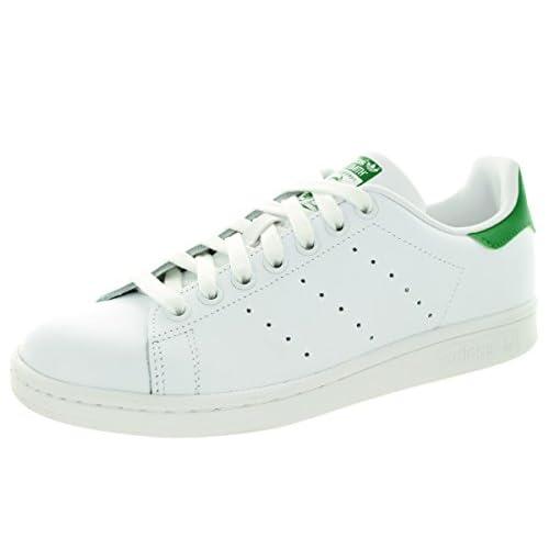 adidas Stan Smith W, Scarpe da Ginnastica Donna, Bianco (Ftwr White/Ftwr White/Green Ftwr White/Ftwr White/Green), 38 EU