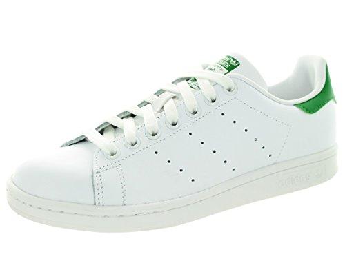 Adidas Stan Smith W, Damen Sneakers, Elfenbein (Ftwbla/ftwbla/verde), 38 2/3 EU