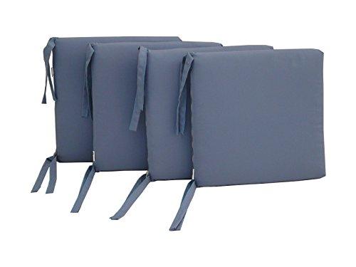 Maffei Art 700 Coussin DRALON, Assise DEHOUSSABLE, pour Assise. Made in Italy. Couleur Lavande. Lot de 4 pièces