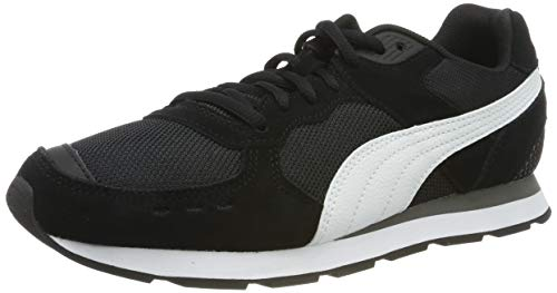 PUMA Unisex-Erwachsene Vista Sneaker, Schwarz Black White-Charcoal Gray, 45 EU