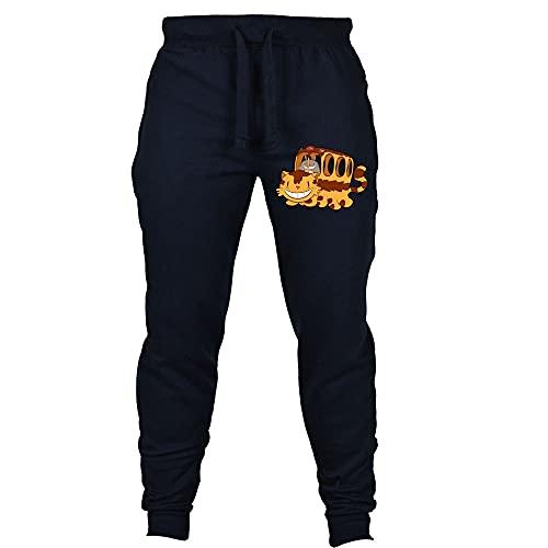 Mnijiein Pantalones De Jogging Hombres Mujeres Jogger Anime Totoro Impresos Cosplay Gym Joggers Pantalones De Chándal De Ajuste Pantalones Deportivos Casuales Azul Oscuro XL