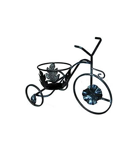 Porta Vasi Portavaso Bicicletta in Ferro Battuto 1 Posto cm 52x26xH45