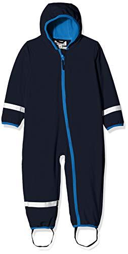 Playshoes Baby-Unisex Softshell-Overall Fleece gefüttert Schneeanzug, Blau, 68