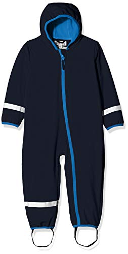 Playshoes Baby-Unisex Softshell-Overall Fleece gefüttert Schneeanzug, Blau, 86