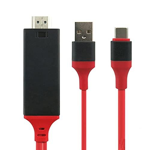 Morninganswer Adaptador Tipo C a HDMI-Compatible, 4K MHL Tipo C a HDMI-Adaptador I AV TV Compatible para Note 10/9/8 / S10 / S9 / S8 Plus Adaptador portátil