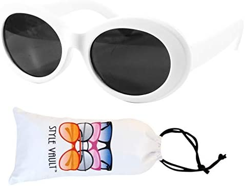 Kd3019 Baby infant Toddlers Age 0 18 months old Oval round hiphop Sunglasses glasses White uv400 product image