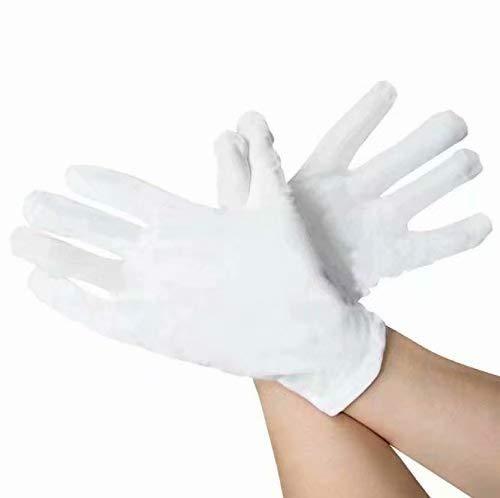 Gleader Lot de 6 Paires de Gants hydratants 100% Coton Blanc