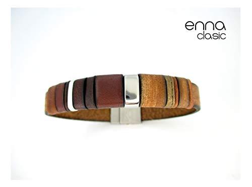 Pulsera cuero marrón, Enna Clasic N5, pulseras cuero, accesorios ...