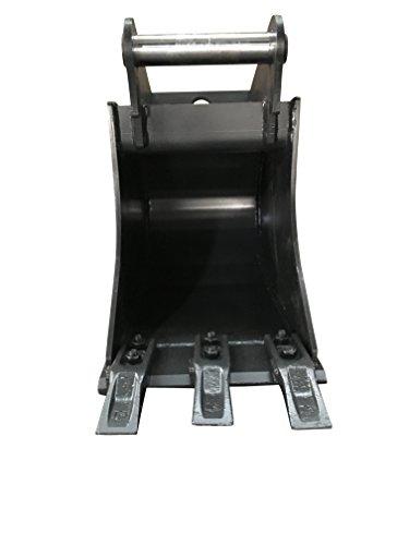 Terrablade ST- Tieflöffel 300mm breit bis 2.2t mit Schnellwechselaufnahme MS01 inkl. 3 Schraubzähnen, Schneidleiste aus Hardox/Baggerschaufel, Baggerlöffel