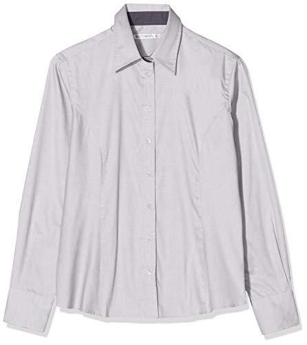 Kustom Kit Contrast Premium Oxford Shirt Camicia, Grigio (Silver Grey/Charcoal Kk789-sgc-14), 48 Donna
