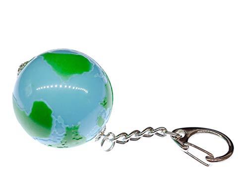 Miniblings Globe Key Ring Chain World Planet Earth Space Moon Blue Green