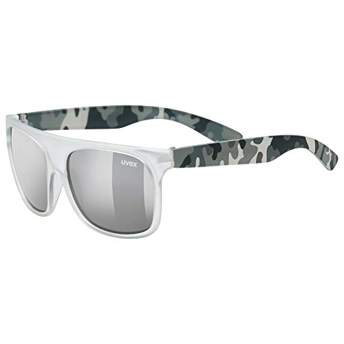 uvex Unisex Jugend, sportstyle 511 Sonnenbrille, white transparent/silver, one size
