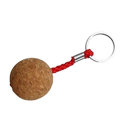 Sharplace Kork Schlüsselanhänger mit Schlüsselring Korkkugel Anhänger Schwimmend
