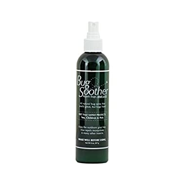 BUG SOOTHER Spray 8 oz - - Natural Mosquito and Insect Deterrent & Repellent with Essential Oils - 100% Safe for Adults, Babies, Pets, Environment - Made in USA