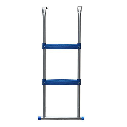 Helo Trampolin Leiter mit 96 cm Höhe für Ø 430 cm Gartentrampoline, Einstiegsleiter zum Einhängen, extra breite Kunststoff Stufen (7 cm Trittbreite), UV- und witterungsbeständig