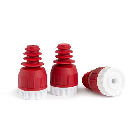 Vakuum Flaschenverschluss, Set mit 3 Stück - Vakuumieren von hochwertigen Weinen und Ölen - Geeignet für Standard Flaschenhals - ungiftig, geruchlos, haltbar