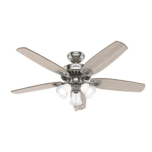 Hunter Builder Indoor Ceiling Fan with LED Light and Pull Chain Control