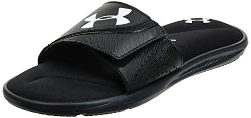 Under Armour Men's Ignite VI SL Slide Sandal, Black (003)/Black, 14 M US