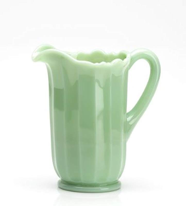 Mosser Glass Panel Pitcher In Jadeite 40 Ounce