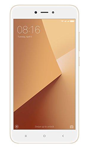 """Xiaomi Redmi Note 5A - Smartphone libre de 5.5"""" (4G, WiFi, Bluetooth, Snapdragon 425 1.4 GHz, 16 GB de ROM ampliable, 2 GB de RAM, cámara de 13 Mp, Android MIUI, dual-SIM), oro [versión española]"""