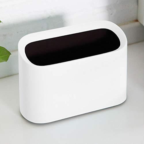 NYKK Countertop Mülleimer Rechteck Kunststoff Kleine Tiny Büro Aufsatz- Garbage Can Aufsatz- Trash Can Oblique Eröffnung Desktop Trash Can