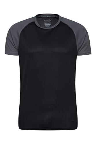 Mountain Warehouse T-Shirt Endurance pour Homme - Haut Respirant idéal pour l'été, Protection UPF 30 - Léger, Confortable et à séchage Rapide - Gym, Voyages, randonnée Noir M