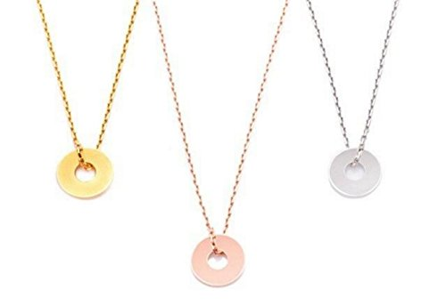 Women's Circle Of Life Celebrity Style Layered Delicate Necklaces. Finished In Flawless Vermeil 18K Rose Gold Over Sterling Silver. Sophisticated Design Including A Matching 45cm Chain. Stamped 925.
