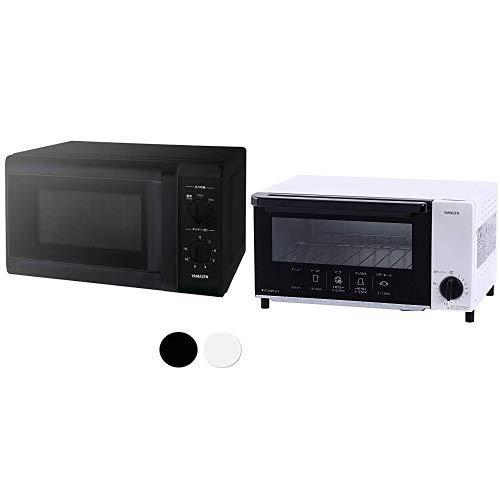 【セット買い】 [山善] 電子レンジ 17L ターンテーブル 【西日本 60Hz専用】 ブラック ARB-207(B)6 & オーブントースター ホワイト YTN-S100(W)