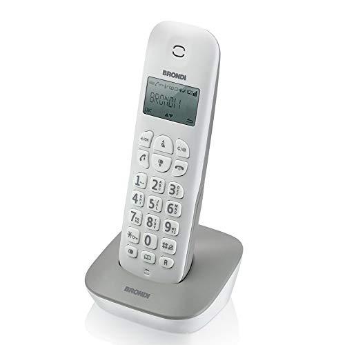 Brondi Gala Telefono Cordless, Bianco/Grigio