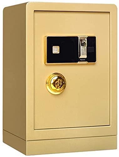 FDGSD Caja Fuerte Gabinete de Almacenamiento de Oficina de 60 cm de Alto Doble Alarma Caja Fuerte de Acero Contraseña electrónica El hogar Seguro Puede Entrar en Las Paredes (Color: Dorado, Tamaño