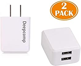 Deepcomp USB Wall Charger,Charger Adapter 2-Pack 24W 2.4Amp Dual Port Quick Charger Plug Compatible with iPhone Samsung Huawei